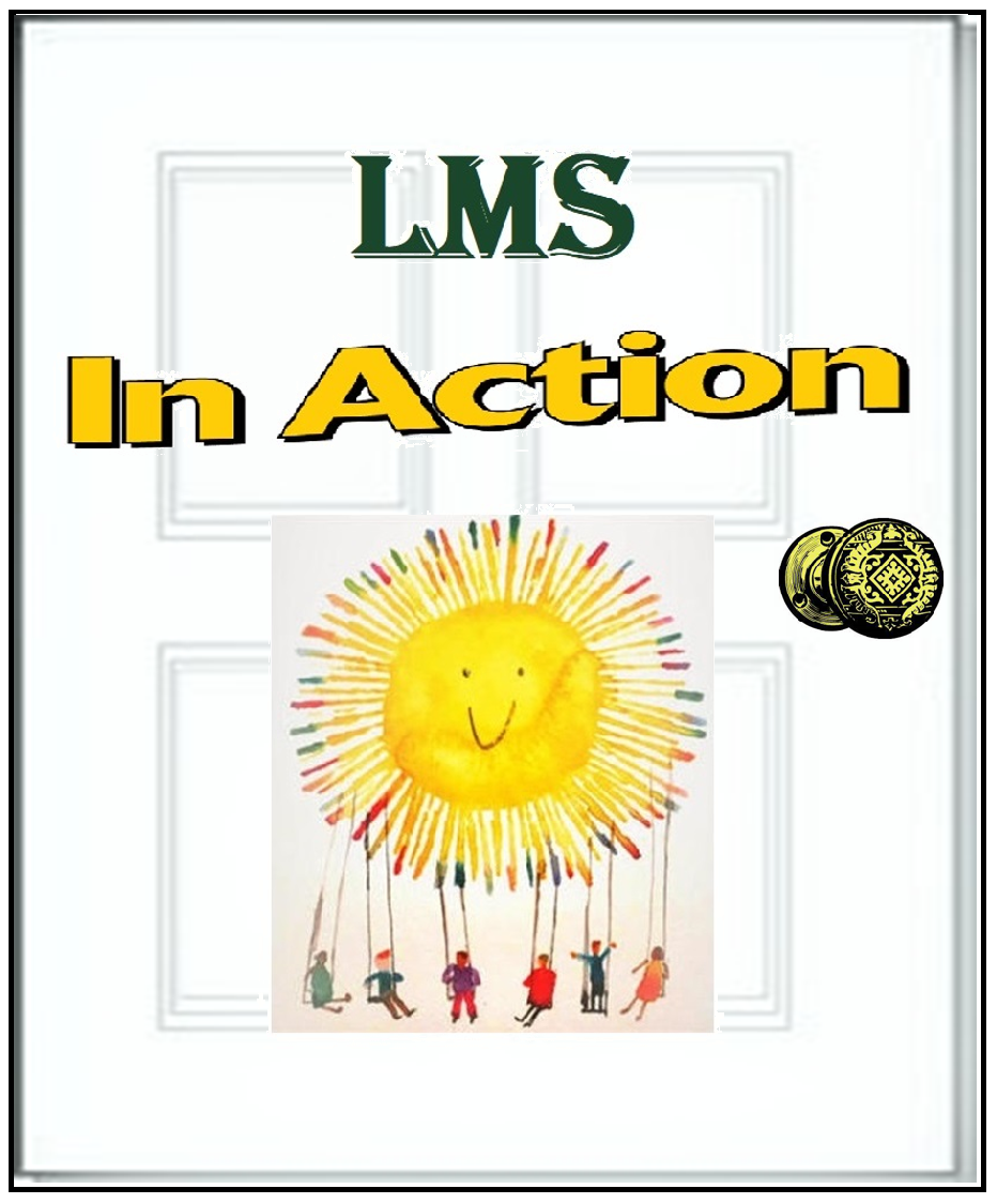 "Door graphic with ""LMS In Action"" written.  Clicking will navigate to the ""LMS In Action"" page."
