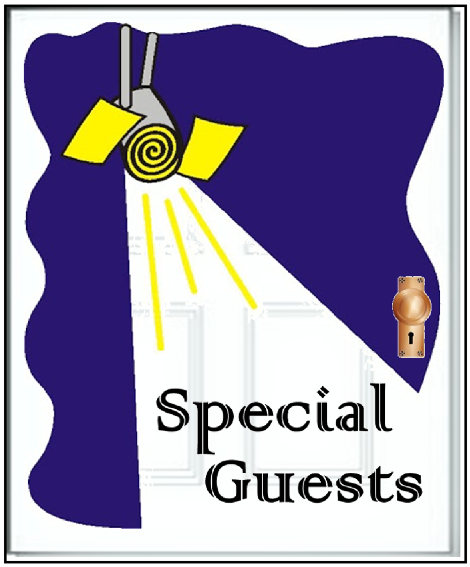 "Door graphic with ""Special Guests"" written.  Clicking will navigate to the ""Special Guests"" page."