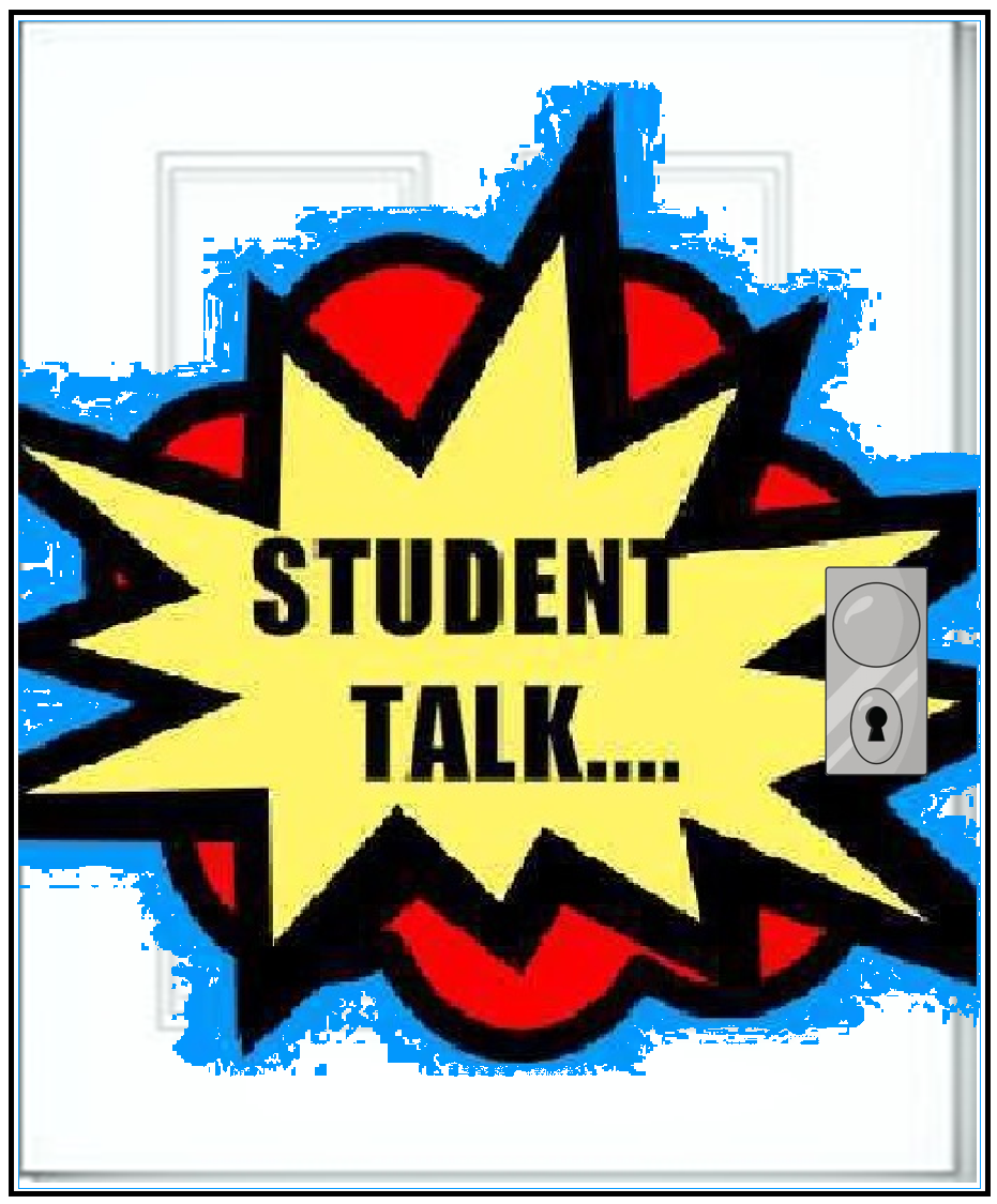 "Door graphic with ""Student Talk"" written on it. Clicking will return to the LMS DEI Student Talk page,"