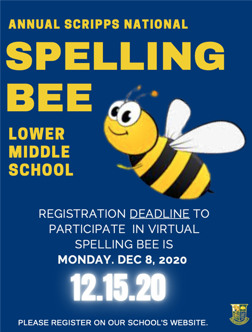 Register for the LMS Spelling Bee today!